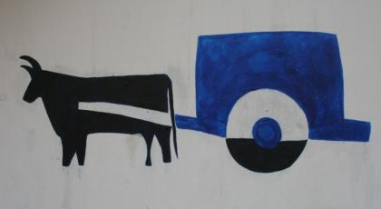 扎鲁特旗蒙中墙绘 第23张