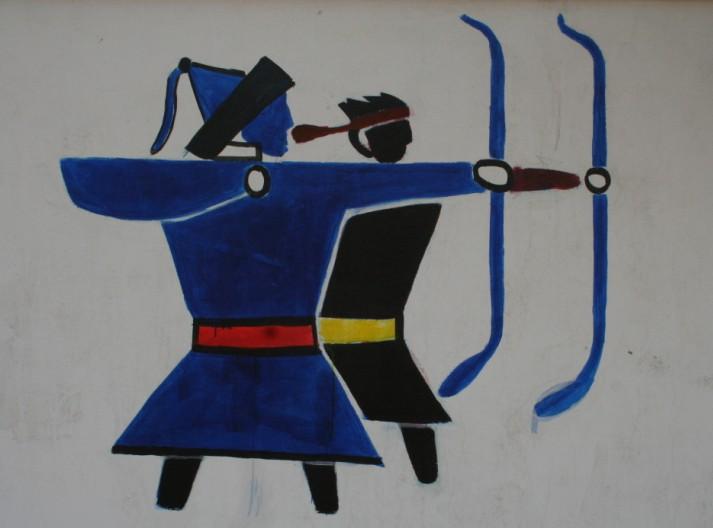 扎鲁特旗蒙中墙绘 第24张
