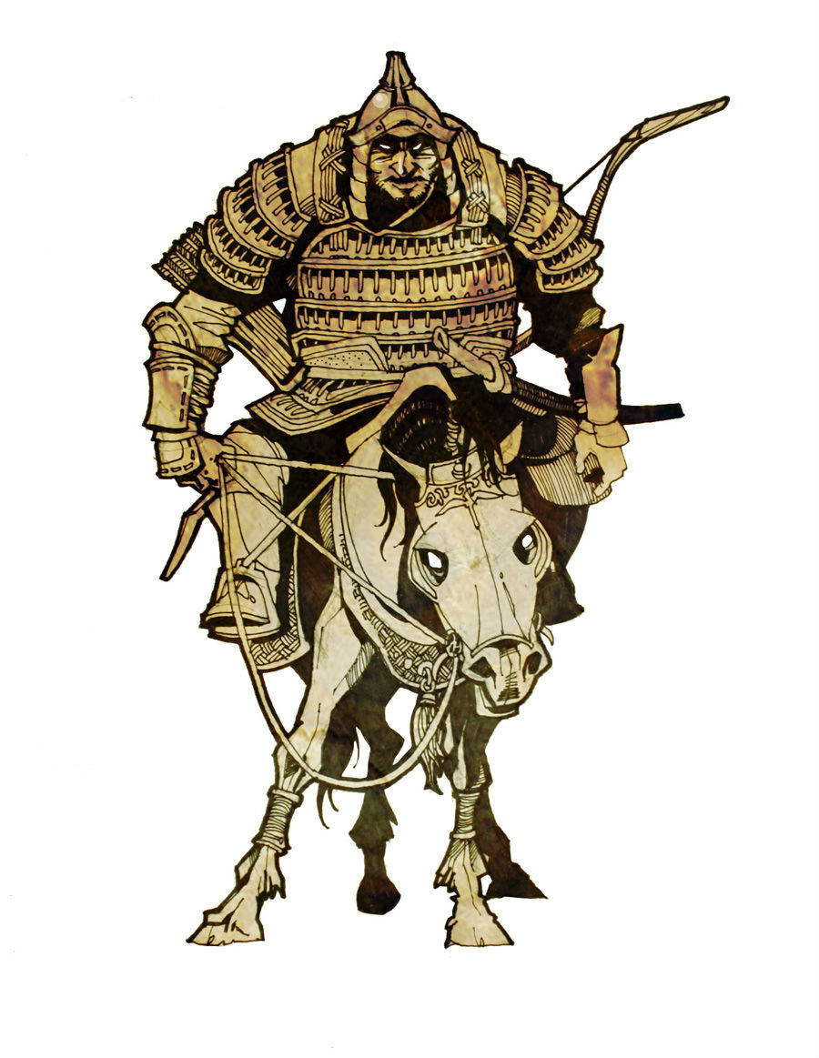 【插画】Mongol Warrior(蒙古勇士) 第1张