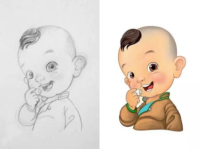 插画   enkhtur bayrsaikhan笔下的蒙古族小孩 第14张