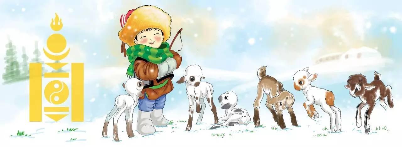 插画   enkhtur bayrsaikhan笔下的蒙古族小孩 第15张