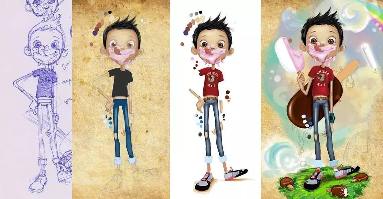 插画   enkhtur bayrsaikhan笔下的蒙古族小孩 第21张