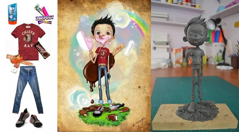 插画   enkhtur bayrsaikhan笔下的蒙古族小孩 第23张