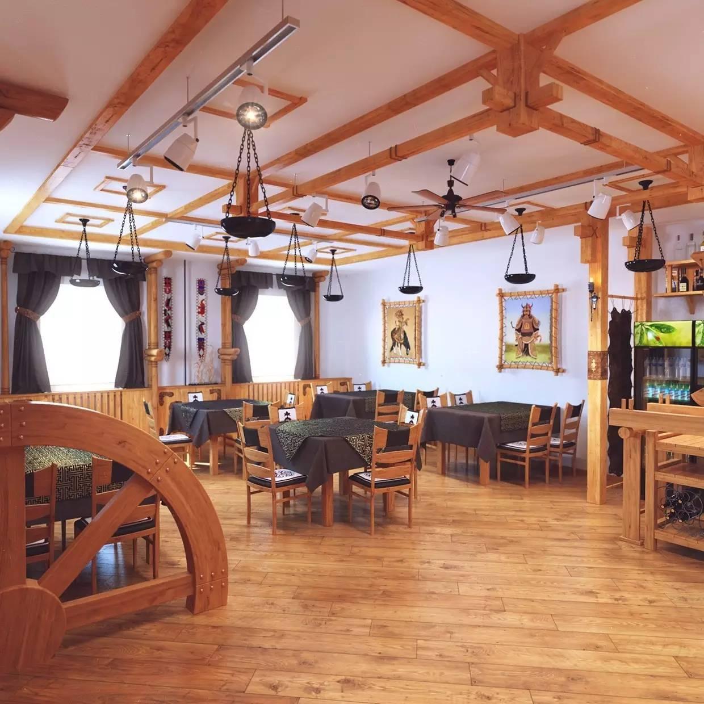 室内设计|蒙古传统风格餐厅 第6张