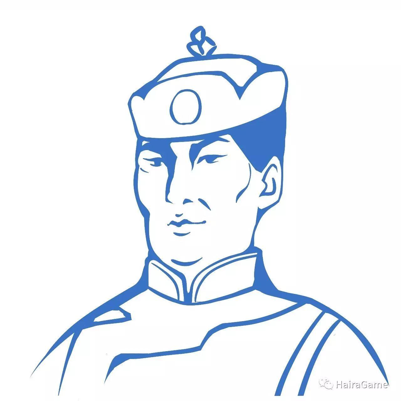 漫画头像 of 阿拉善和硕特蒙古|Haira绘制 第1张