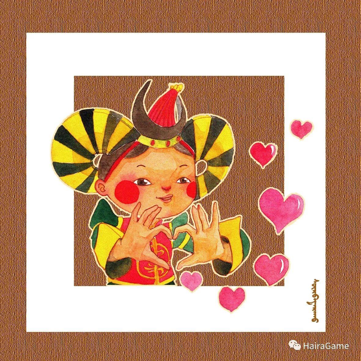 可爱的蒙古宝贝:诺敏和清赫尔·Surbadarah(原创插画) 第7张