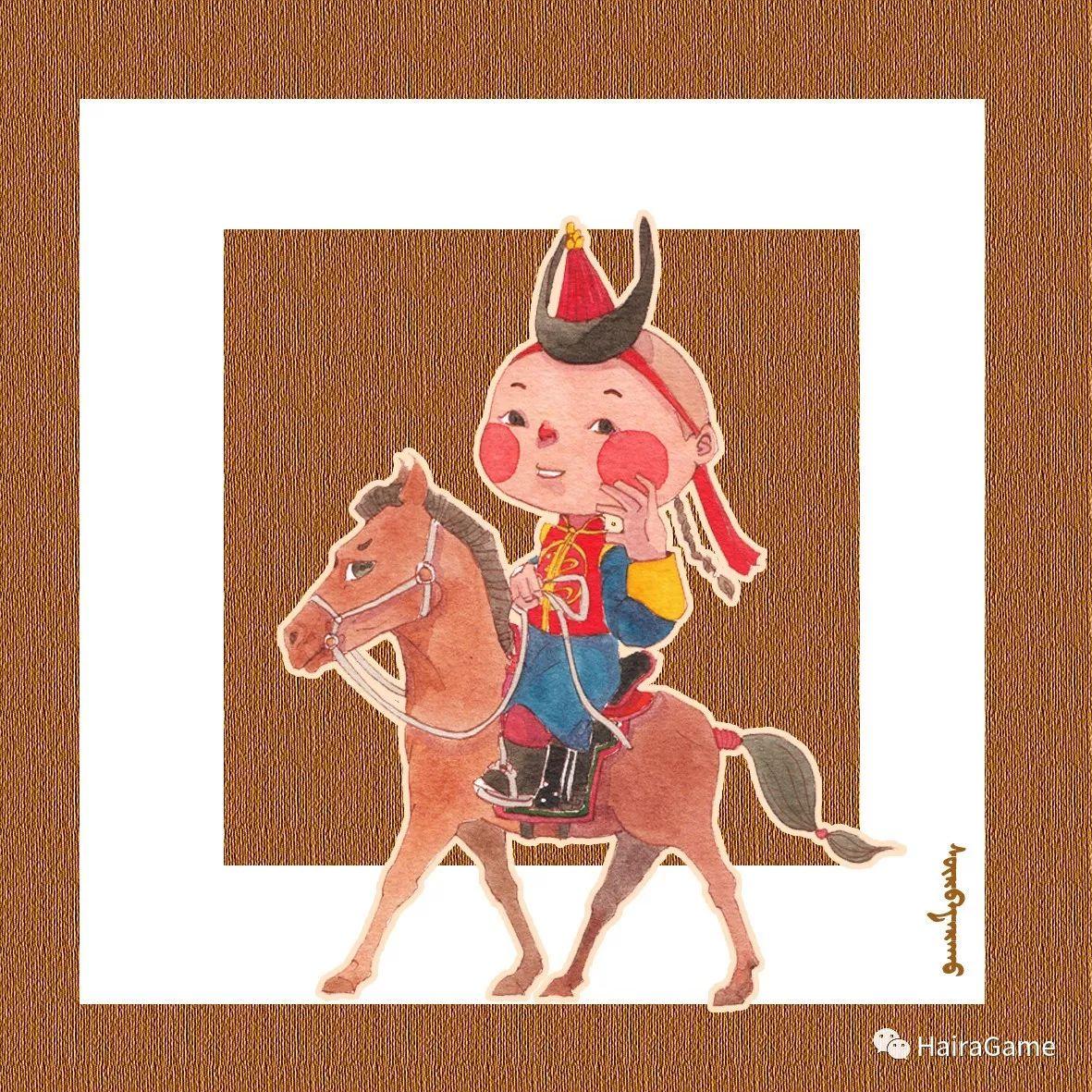 可爱的蒙古宝贝:诺敏和清赫尔·Surbadarah(原创插画) 第8张