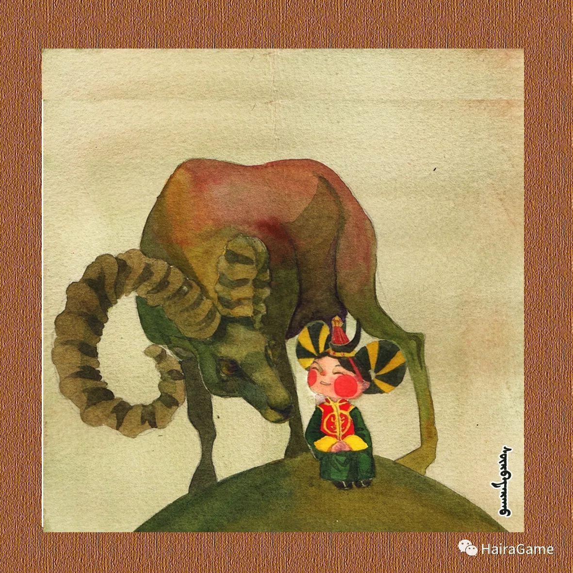 可爱的蒙古宝贝2:诺敏和清赫尔· Surbadarah(原创插画) 第4张