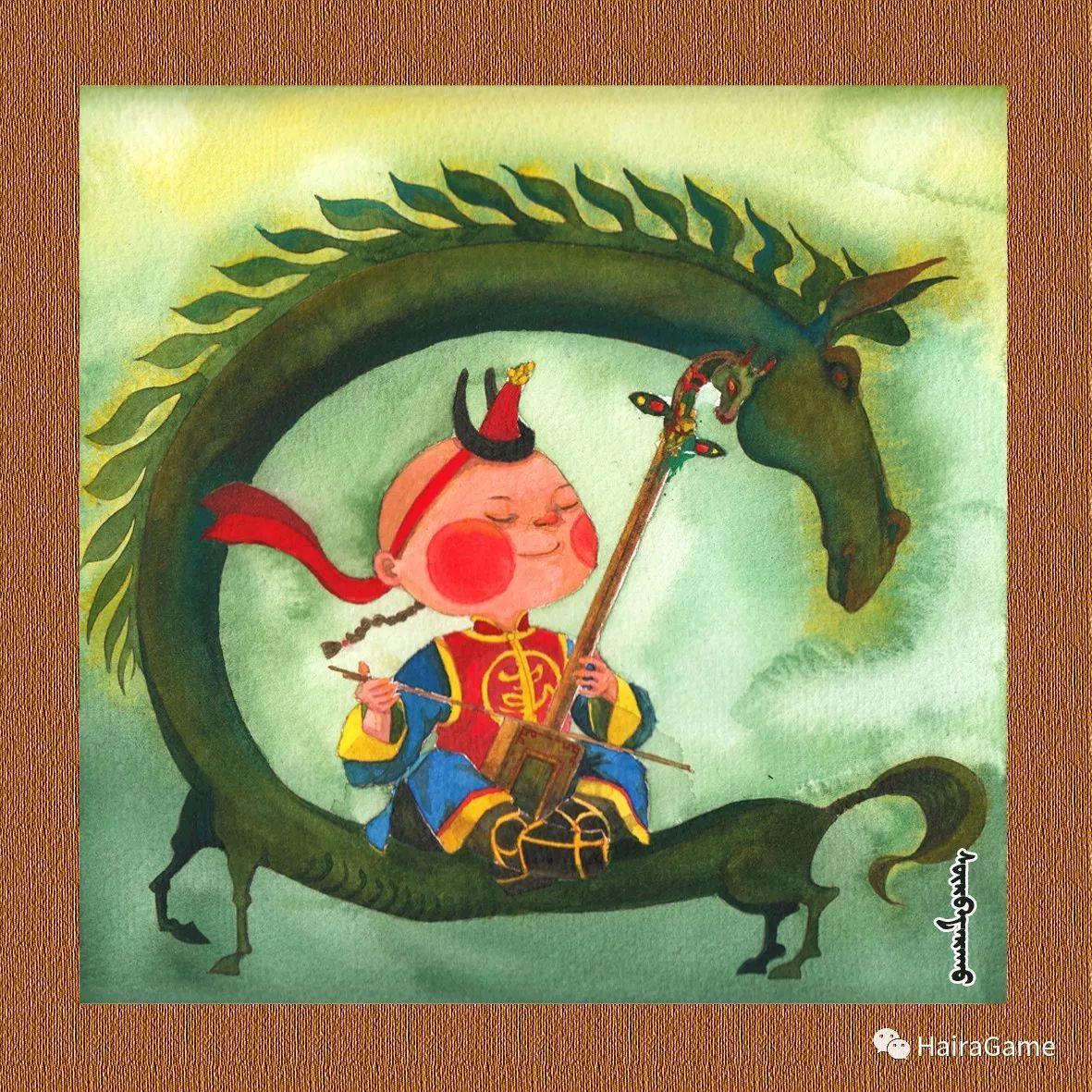 可爱的蒙古宝贝2:诺敏和清赫尔· Surbadarah(原创插画) 第5张