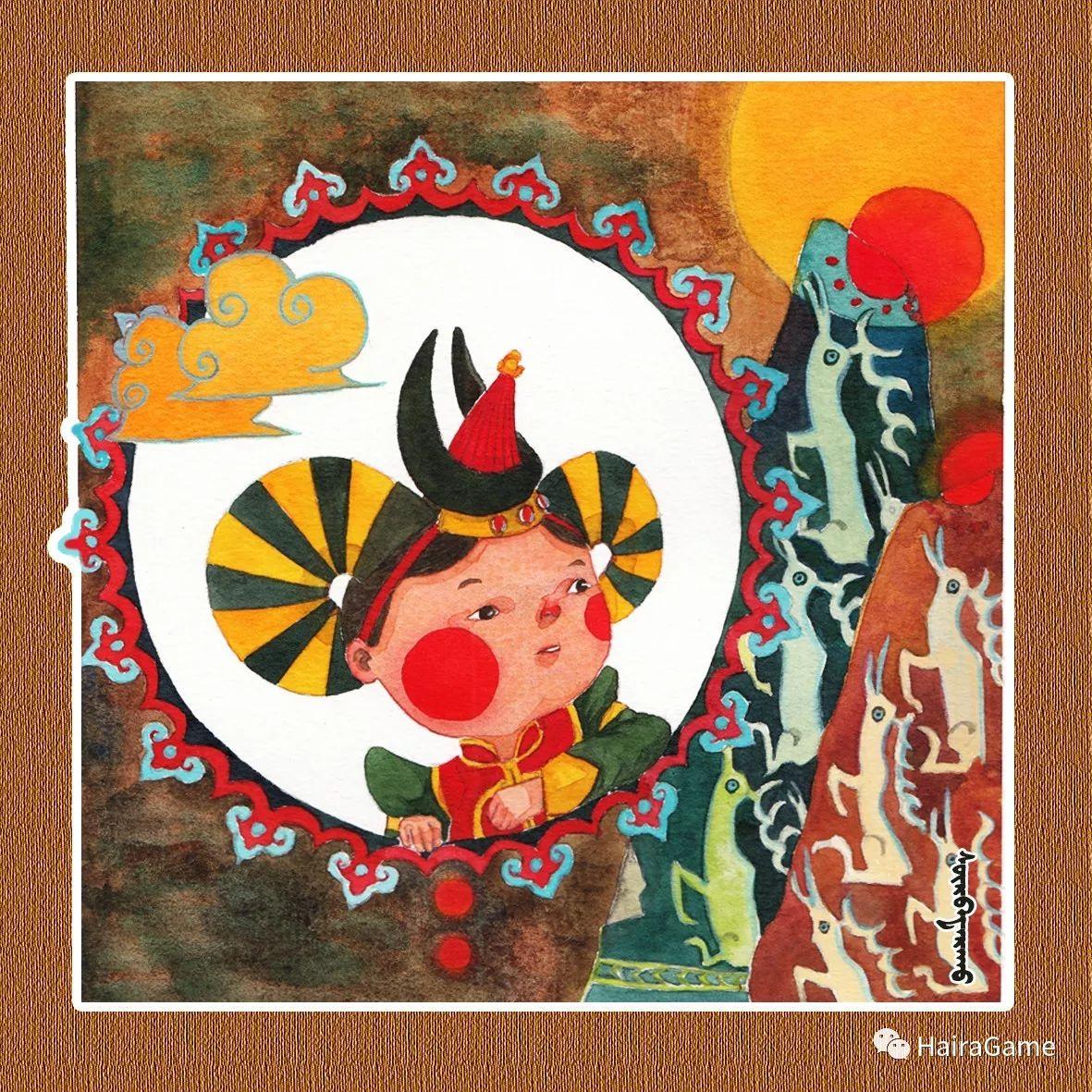 可爱的蒙古宝贝2:诺敏和清赫尔· Surbadarah(原创插画) 第8张