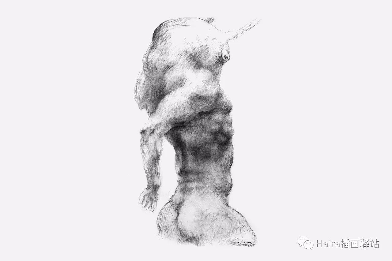 画作欣赏|达西·纳姆达科夫的素描作品 第4张