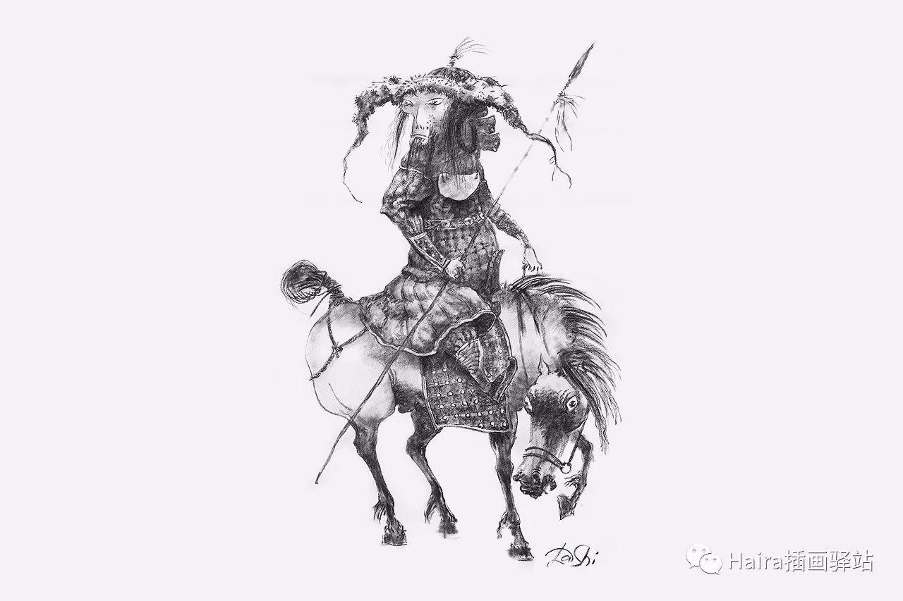 画作欣赏|达西·纳姆达科夫的素描作品 第8张