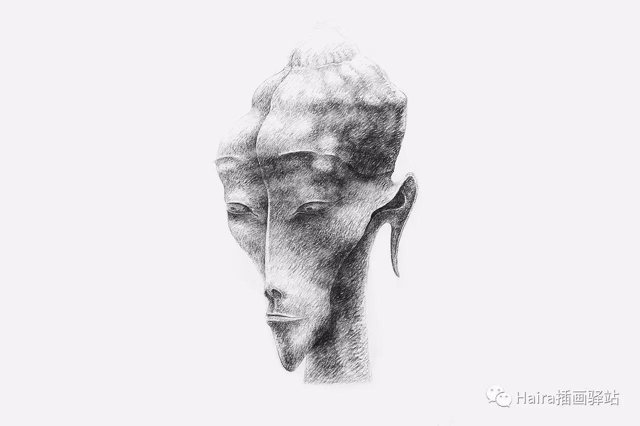 画作欣赏|达西·纳姆达科夫的素描作品 第10张