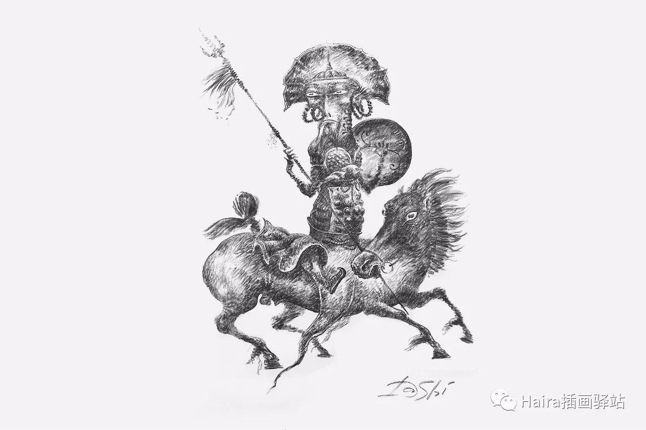 画作欣赏|达西·纳姆达科夫的素描作品 第9张