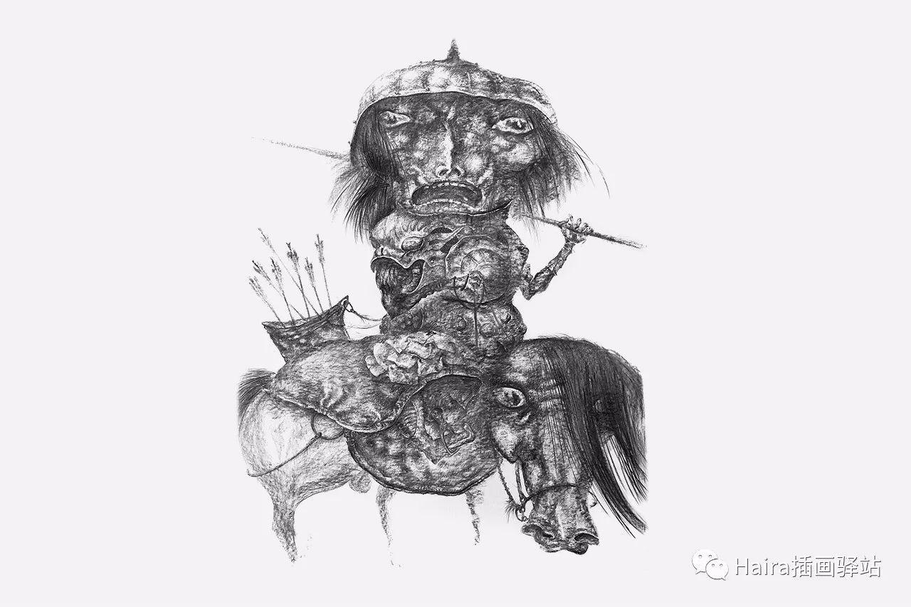 画作欣赏|达西·纳姆达科夫的素描作品 第14张