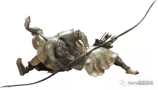 绘画作品|当达西的雕塑被搬上画纸时 第1张