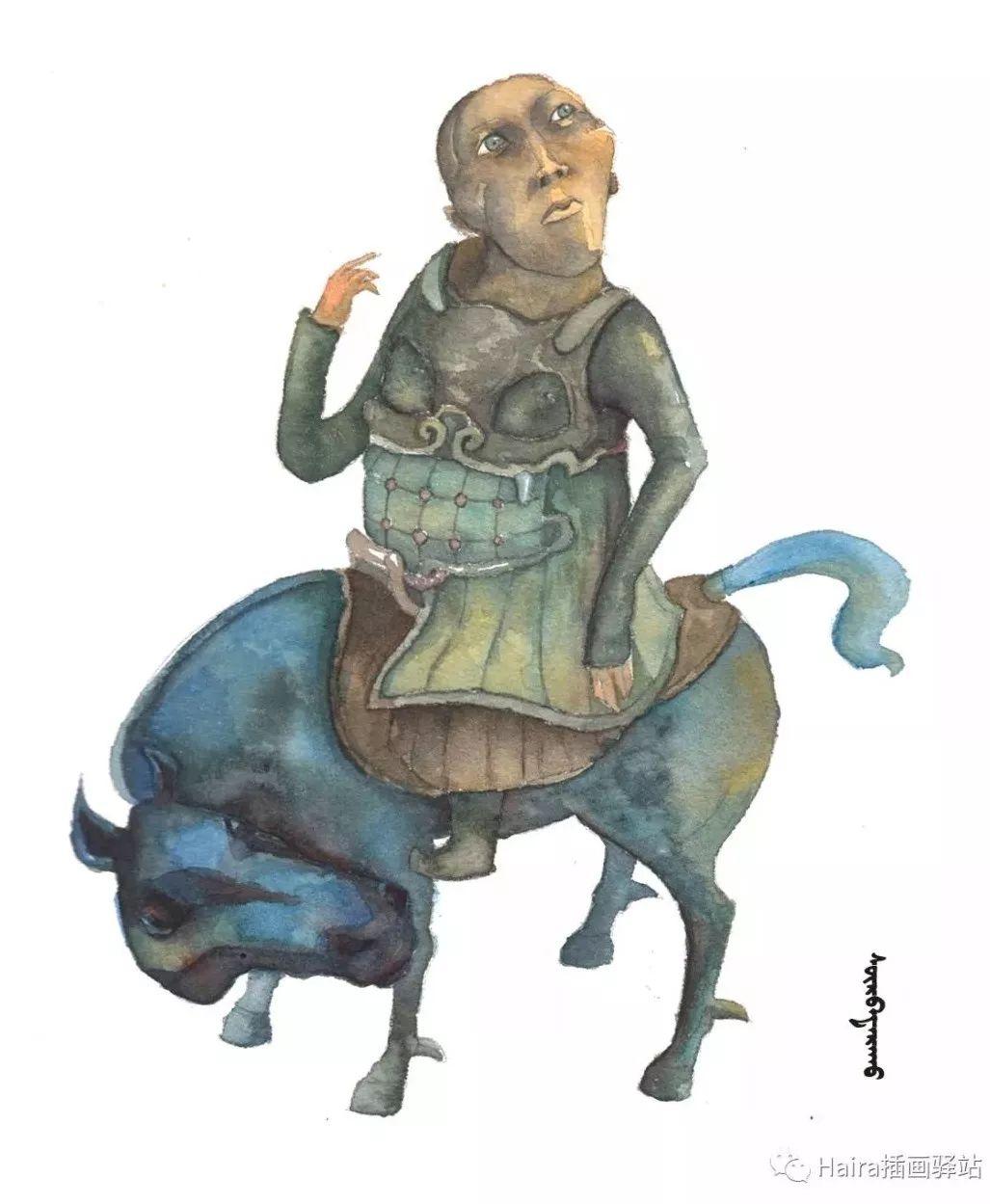 绘画作品|当达西的雕塑被搬上画纸时 第2张