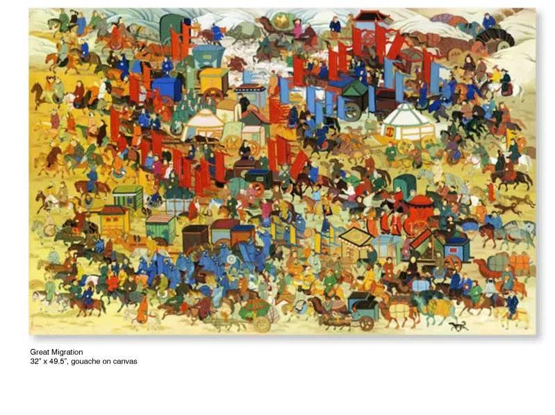 大众艺术网:插画 | 东西文化的融合 —— 旅美蒙古女画家  Solongo Mellecker 插画作品欣赏