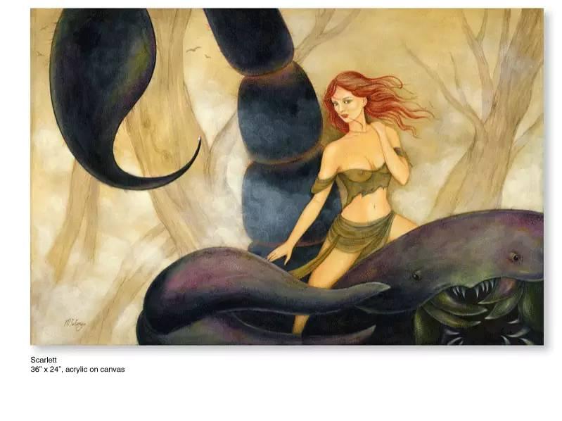 大众艺术网:插画 | 东西文化的融合 —— 旅美蒙古女画家  Solongo Mellecker 插画作品欣赏 第2张