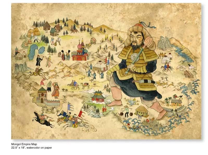 大众艺术网:插画 | 东西文化的融合 —— 旅美蒙古女画家  Solongo Mellecker 插画作品欣赏 第7张