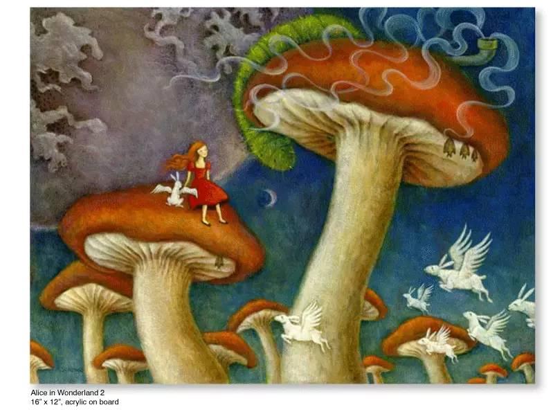 大众艺术网:插画 | 东西文化的融合 —— 旅美蒙古女画家  Solongo Mellecker 插画作品欣赏 第13张
