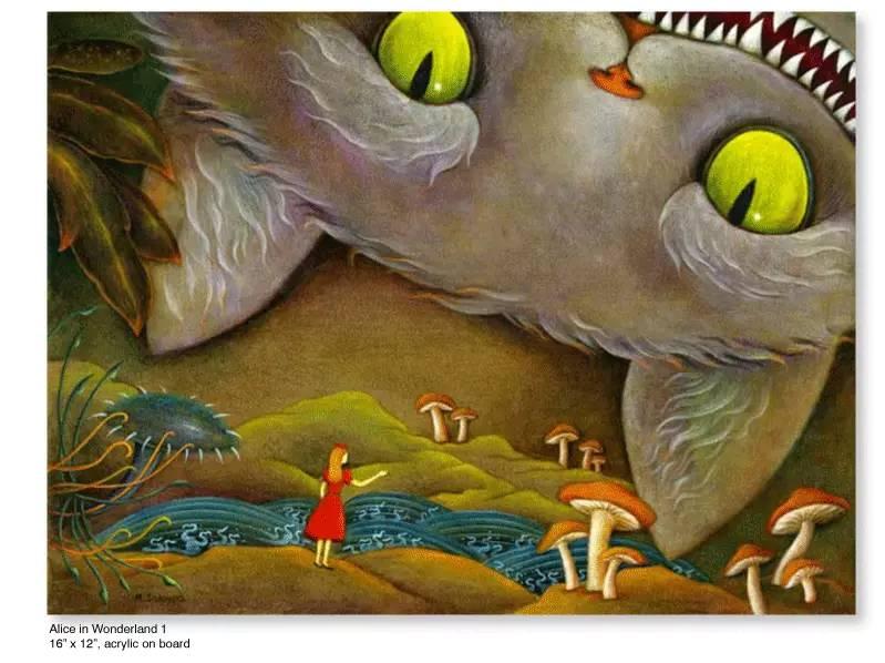 大众艺术网:插画 | 东西文化的融合 —— 旅美蒙古女画家  Solongo Mellecker 插画作品欣赏 第15张