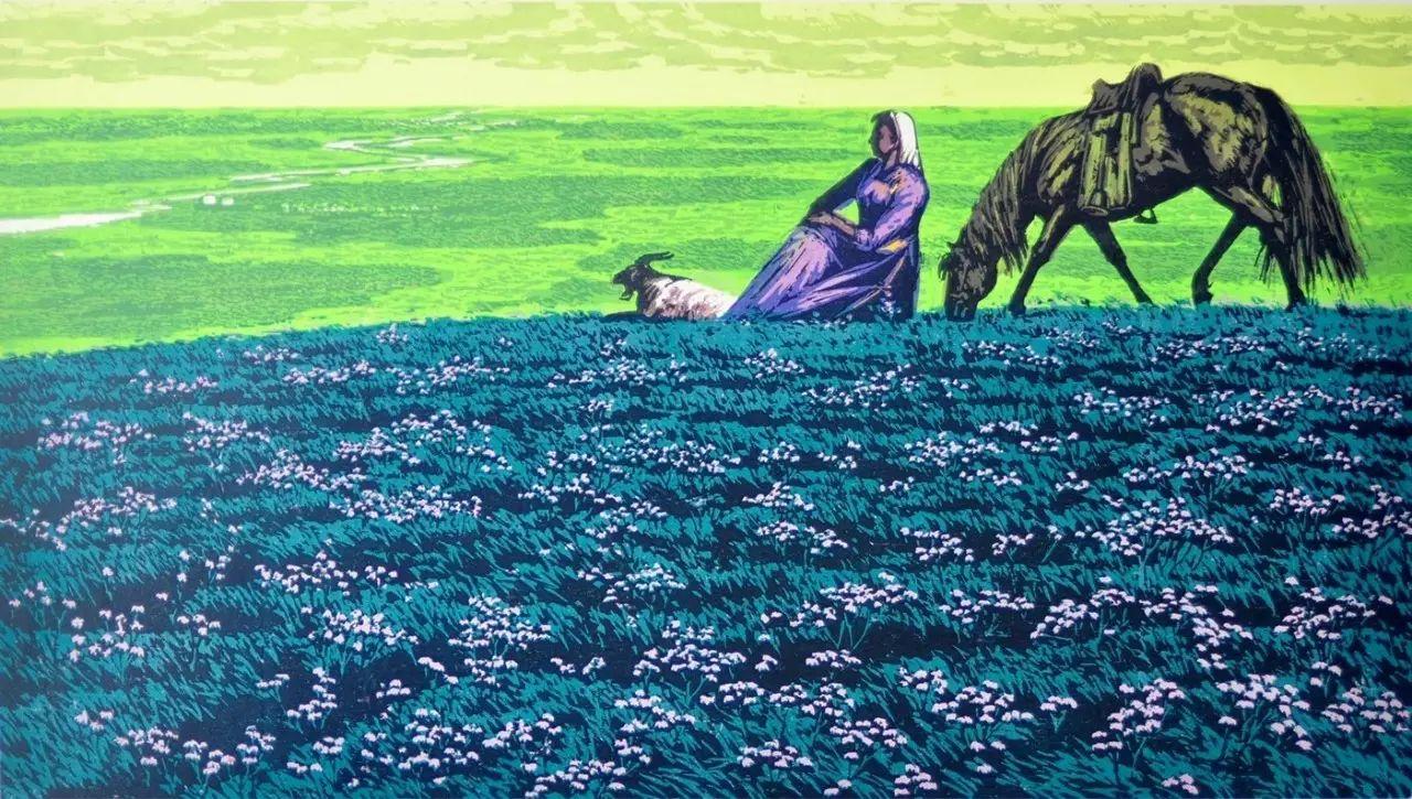 张祯麒内蒙古系列版画 第13张
