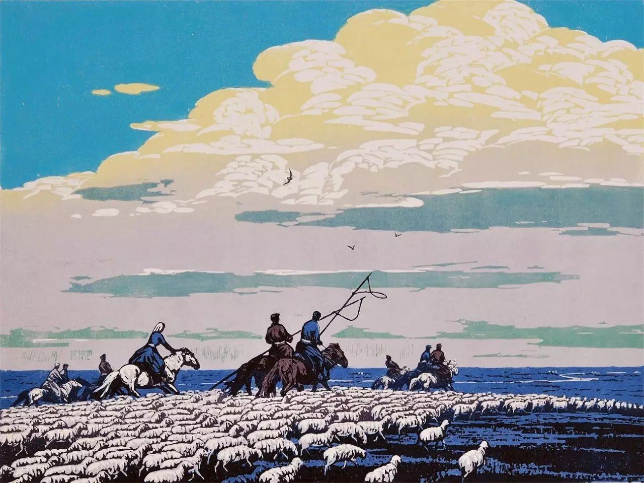 张祯麒内蒙古系列版画 第37张