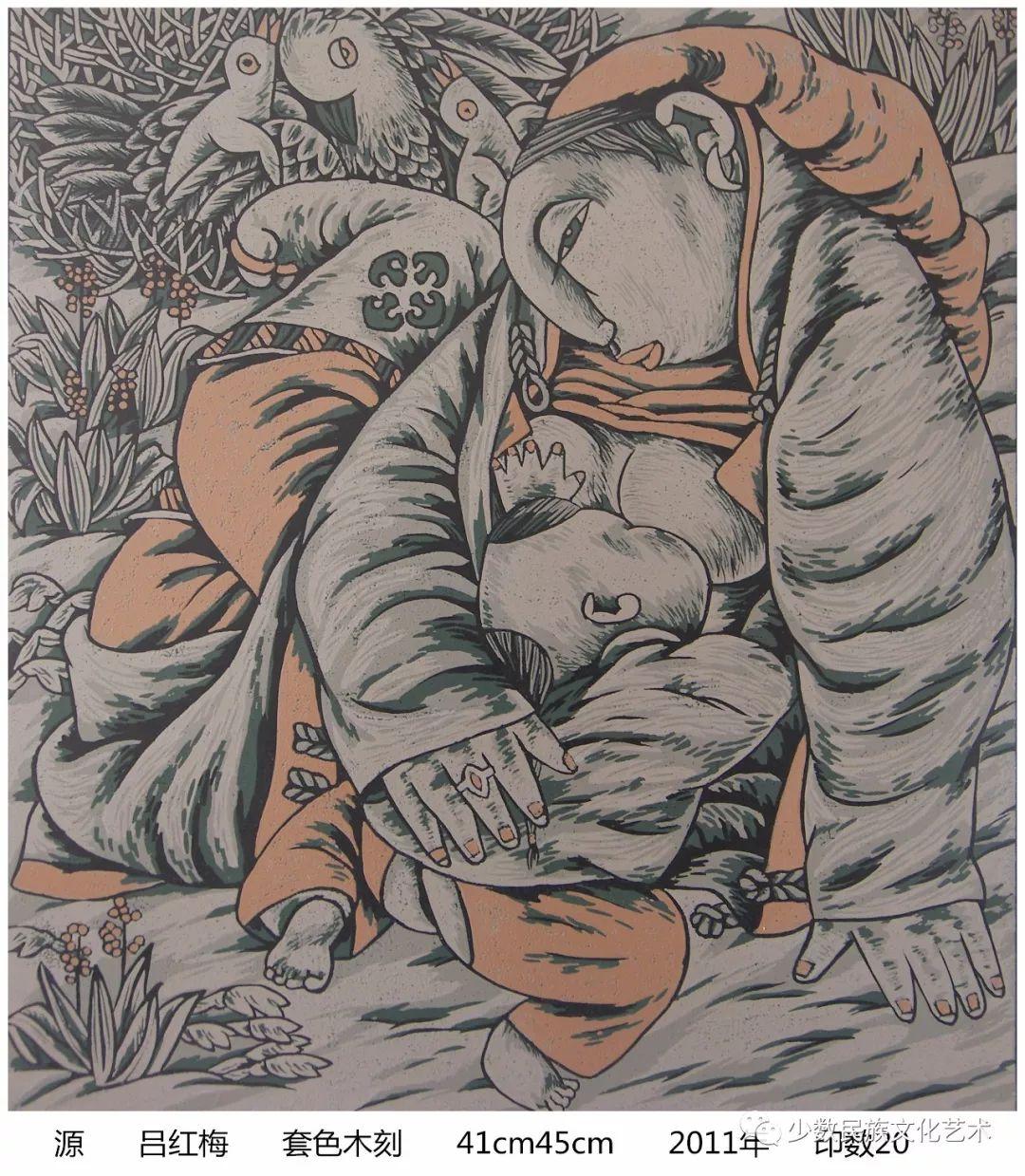 吕红梅版画作品欣赏 第18张