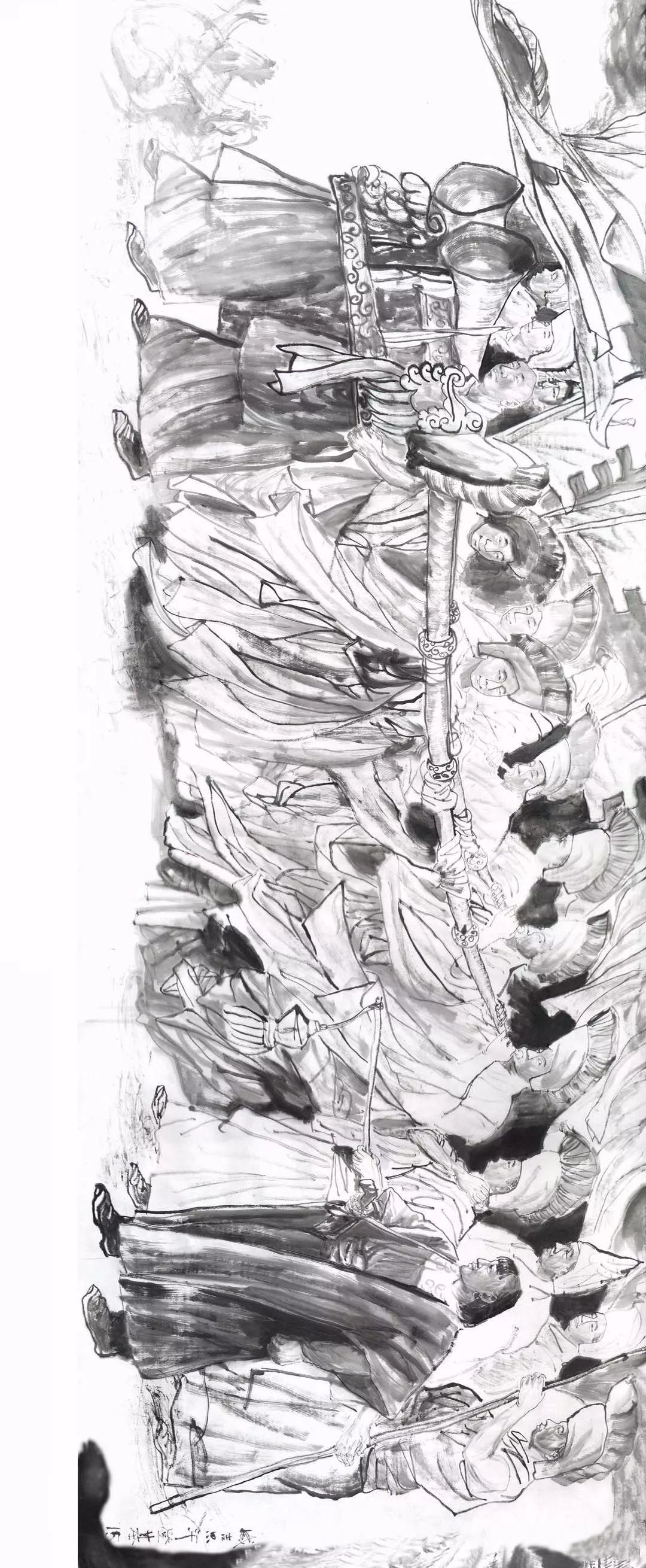 【经典】《蒙古魂》国画写意,大师所创,值得收藏。 第13张