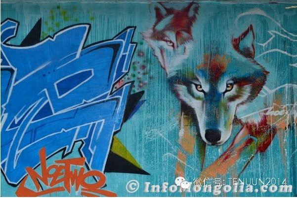 蒙古国街头墙壁上的绘画艺术 — 蒙古青年的涂鸦作品 第11张
