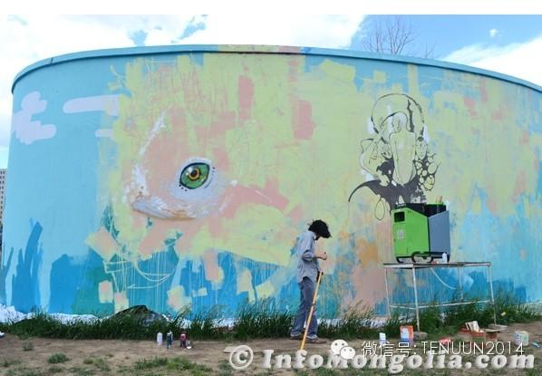 蒙古国街头墙壁上的绘画艺术 — 蒙古青年的涂鸦作品 第16张