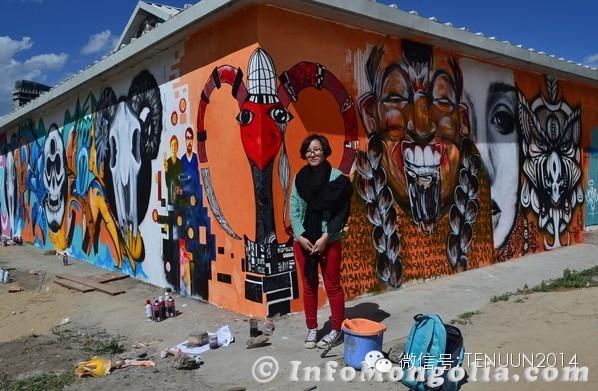 蒙古国街头墙壁上的绘画艺术 — 蒙古青年的涂鸦作品 第18张