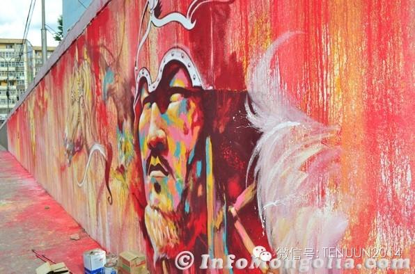 蒙古国街头墙壁上的绘画艺术 — 蒙古青年的涂鸦作品 第21张