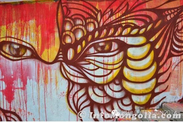 蒙古国街头墙壁上的绘画艺术 — 蒙古青年的涂鸦作品 第22张