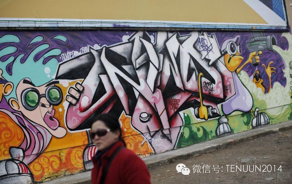 蒙古国街头墙壁上的绘画艺术 — 蒙古青年的涂鸦作品 第29张