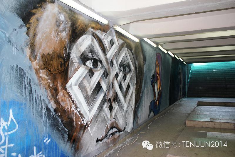 蒙古国街头墙壁上的绘画艺术 — 蒙古青年的涂鸦作品 第32张