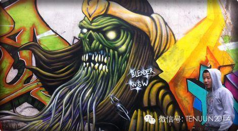 蒙古国街头墙壁上的绘画艺术 — 蒙古青年的涂鸦作品 第30张