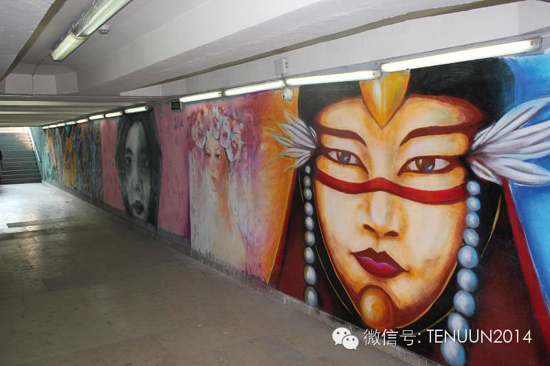 蒙古国街头墙壁上的绘画艺术 — 蒙古青年的涂鸦作品 第37张