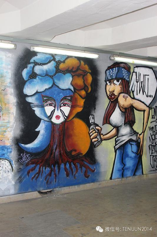 蒙古国街头墙壁上的绘画艺术 — 蒙古青年的涂鸦作品 第39张