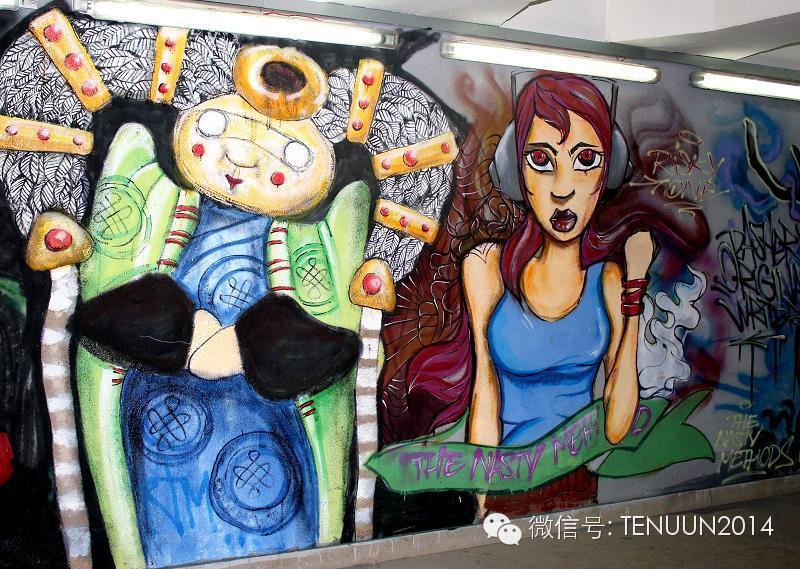 蒙古国街头墙壁上的绘画艺术 — 蒙古青年的涂鸦作品 第38张