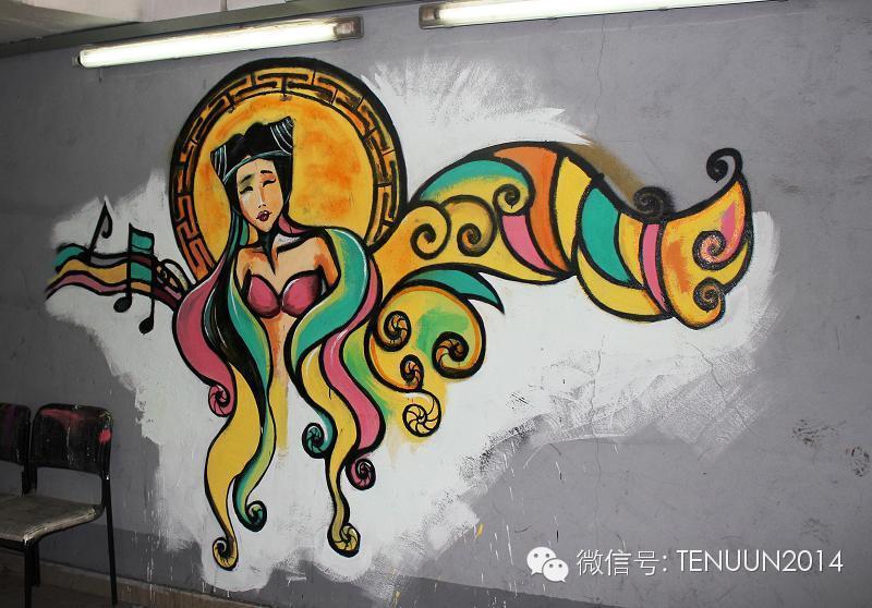 蒙古国街头墙壁上的绘画艺术 — 蒙古青年的涂鸦作品 第44张
