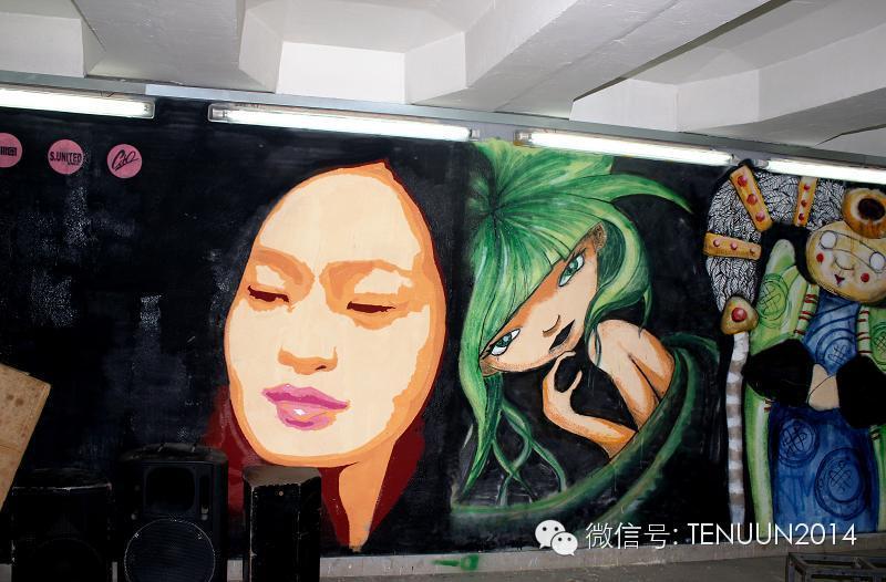 蒙古国街头墙壁上的绘画艺术 — 蒙古青年的涂鸦作品 第43张