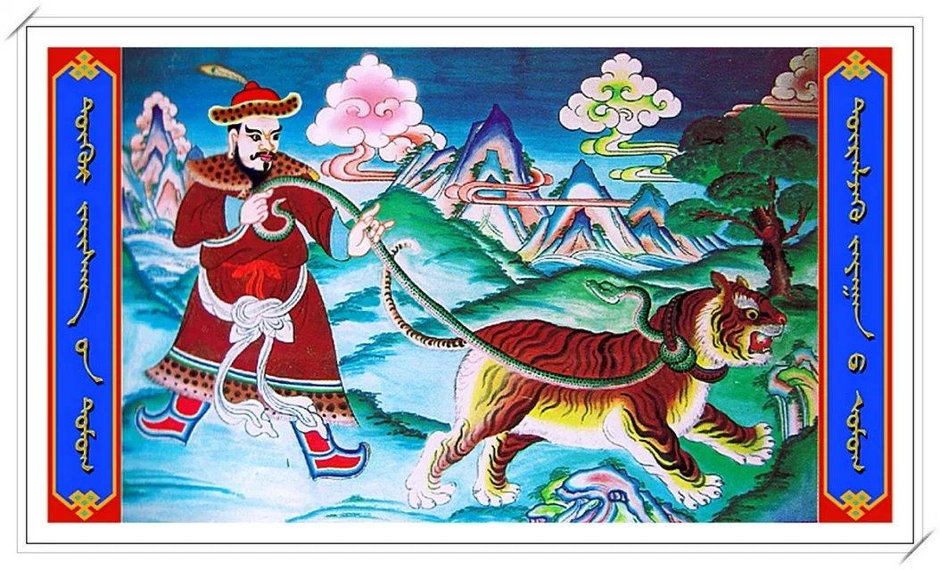 【民族艺术】蒙古风格绘画作品 —— 画笔下的民族风 第4张