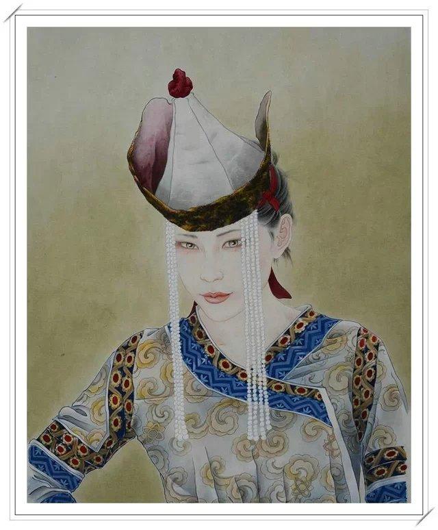 【民族艺术】蒙古风格绘画作品 —— 画笔下的民族风 第9张