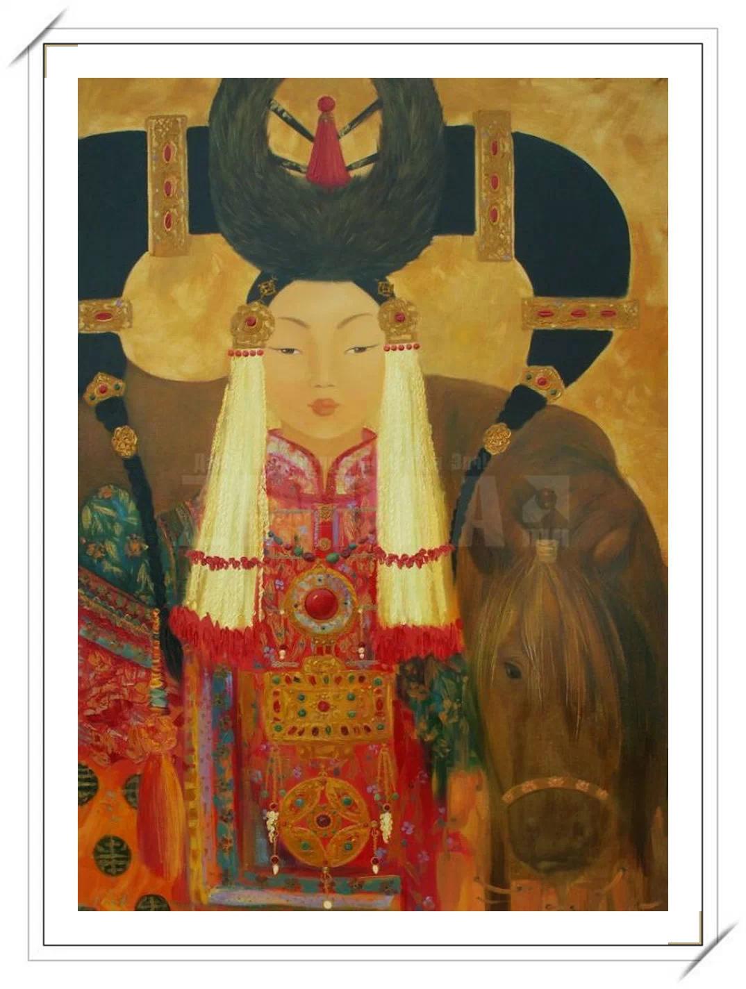 【民族艺术】蒙古风格绘画作品 —— 画笔下的民族风 第14张