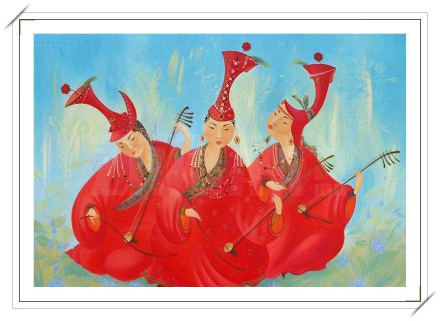 【民族艺术】蒙古风格绘画作品 —— 画笔下的民族风 第17张