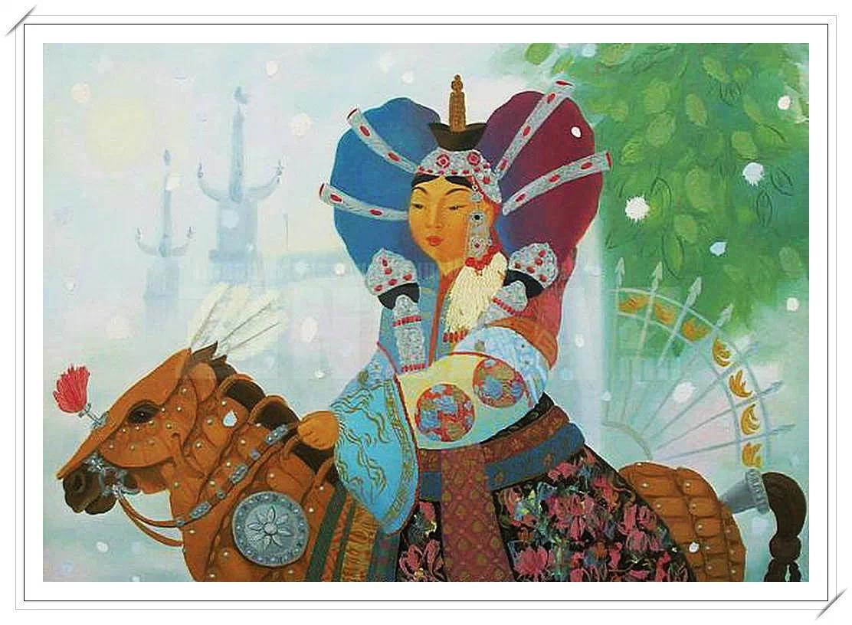 【民族艺术】蒙古风格绘画作品 —— 画笔下的民族风 第15张