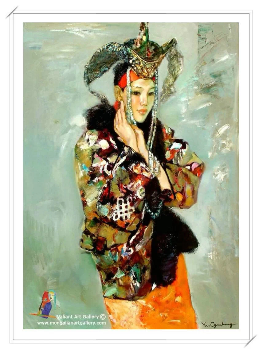 【民族艺术】蒙古风格绘画作品 —— 画笔下的民族风 第20张