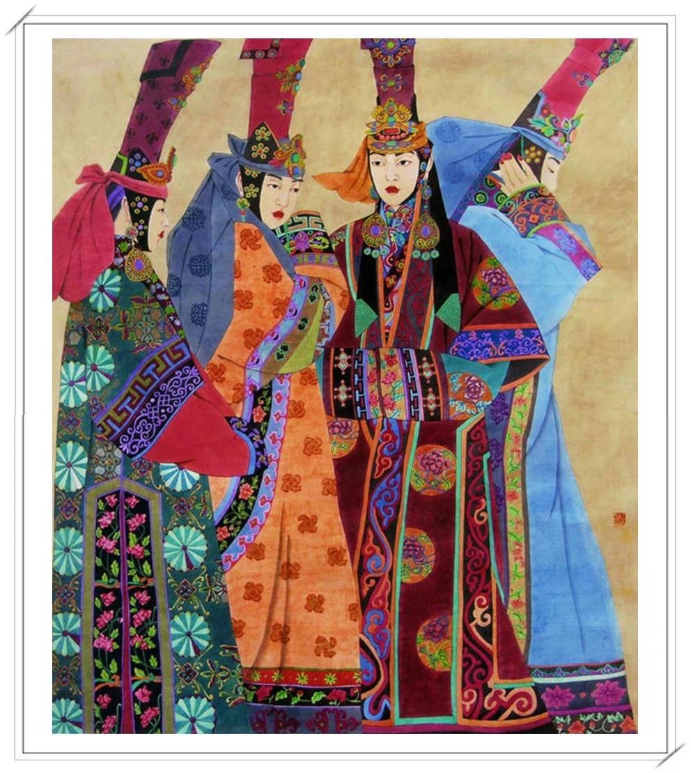 【民族艺术】蒙古风格绘画作品 —— 画笔下的民族风图片